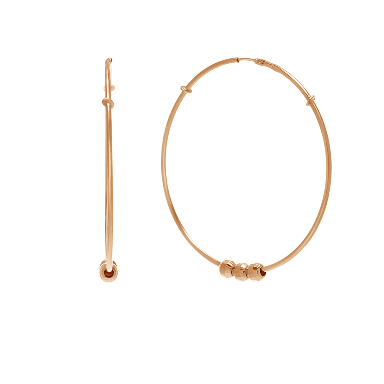 """Congo"" Rose Gold Hoop Earrings"