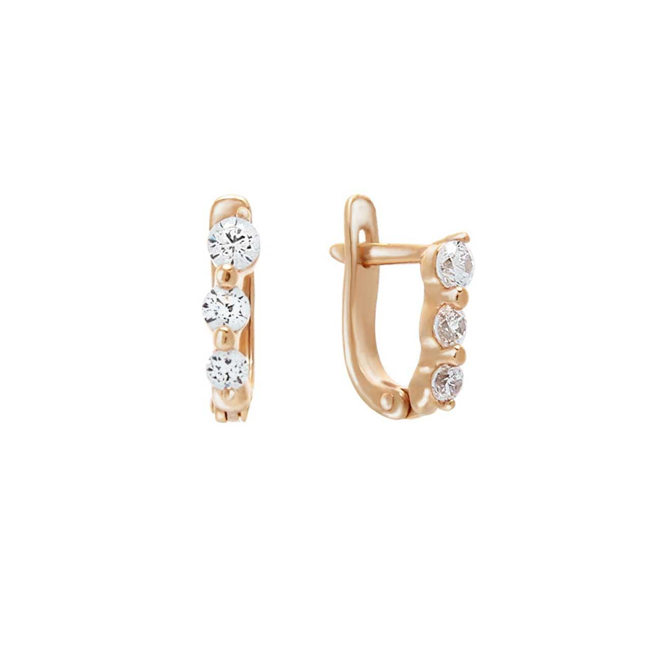 CZ Children Leverback Earrings