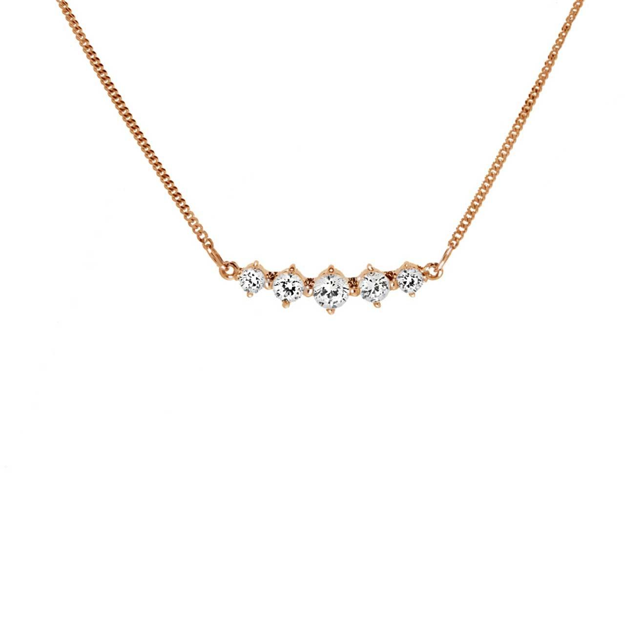 'Five Symbols of Joy' Necklace with CZ