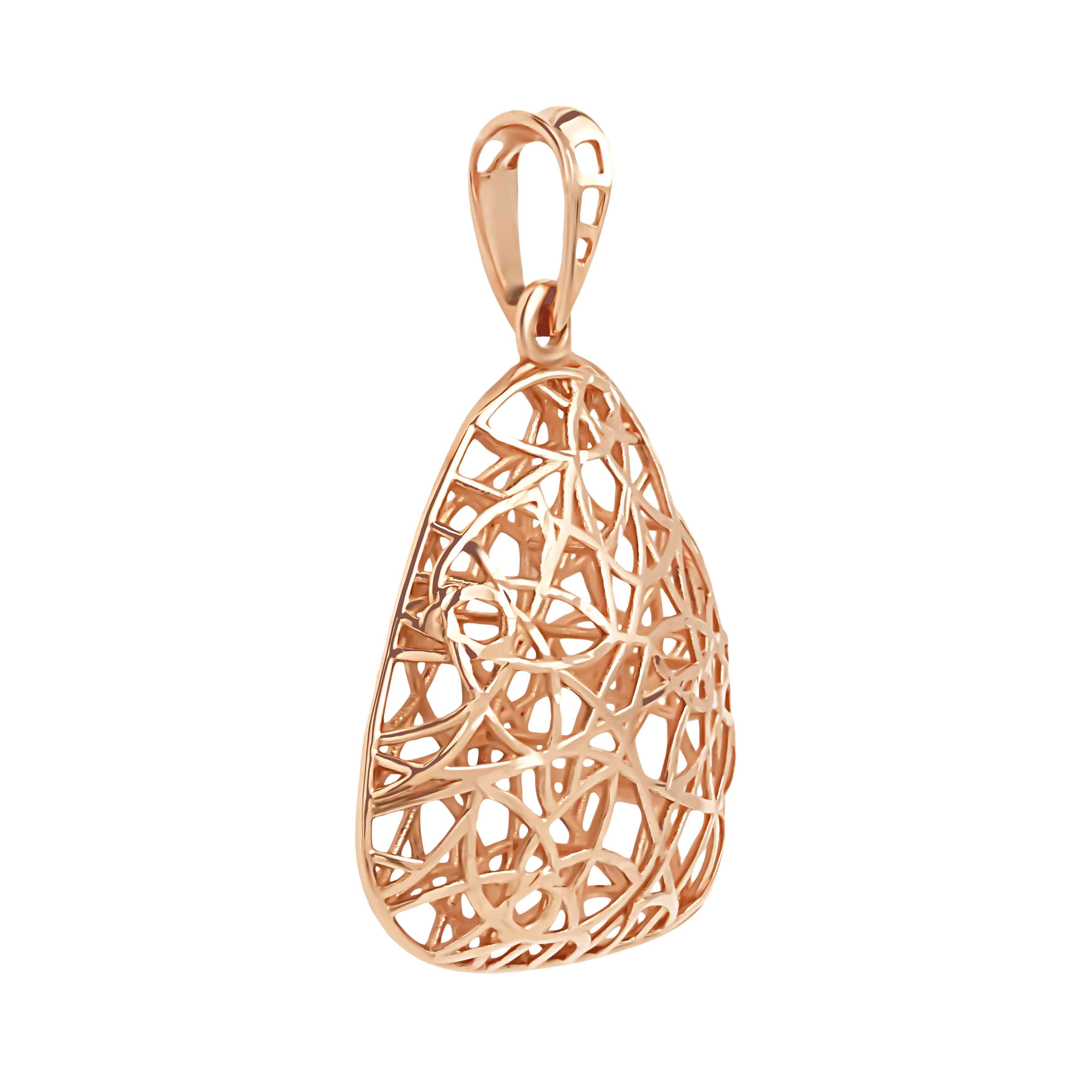 'Fashion Web' pendant in 585 rose gold. View 2