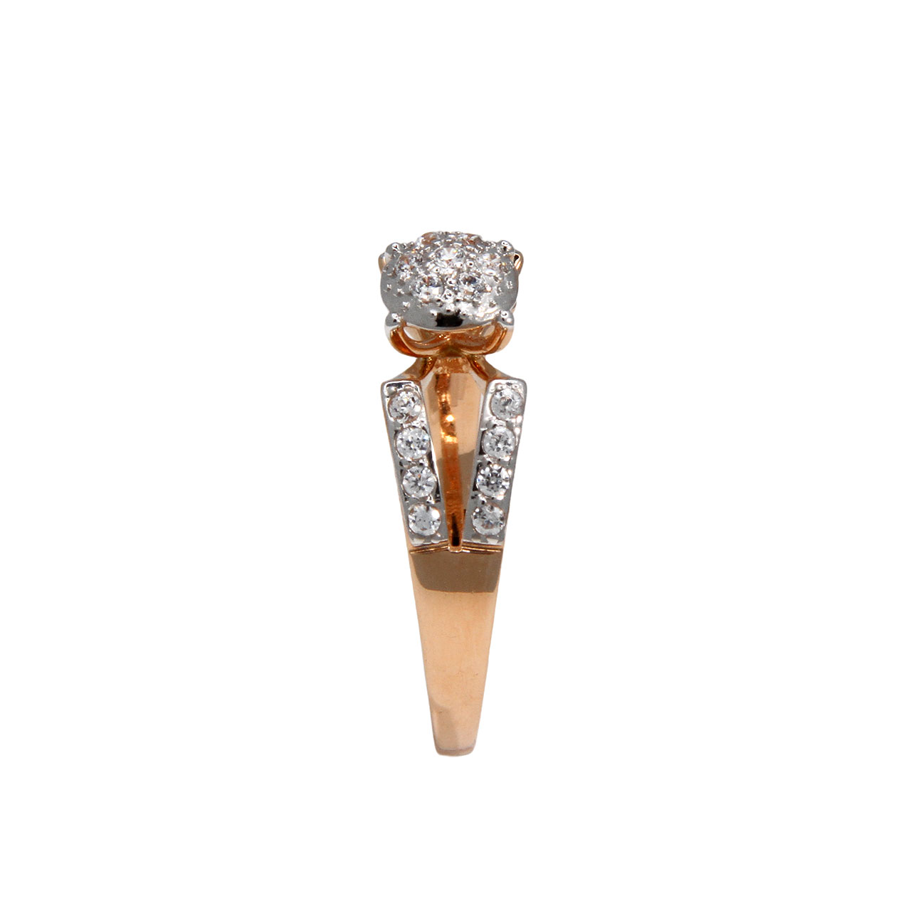 Double shank rose gold ring 3