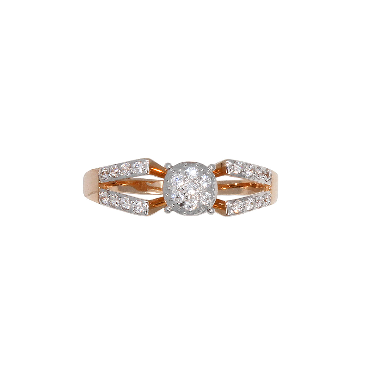 Double shank rose gold ring 4