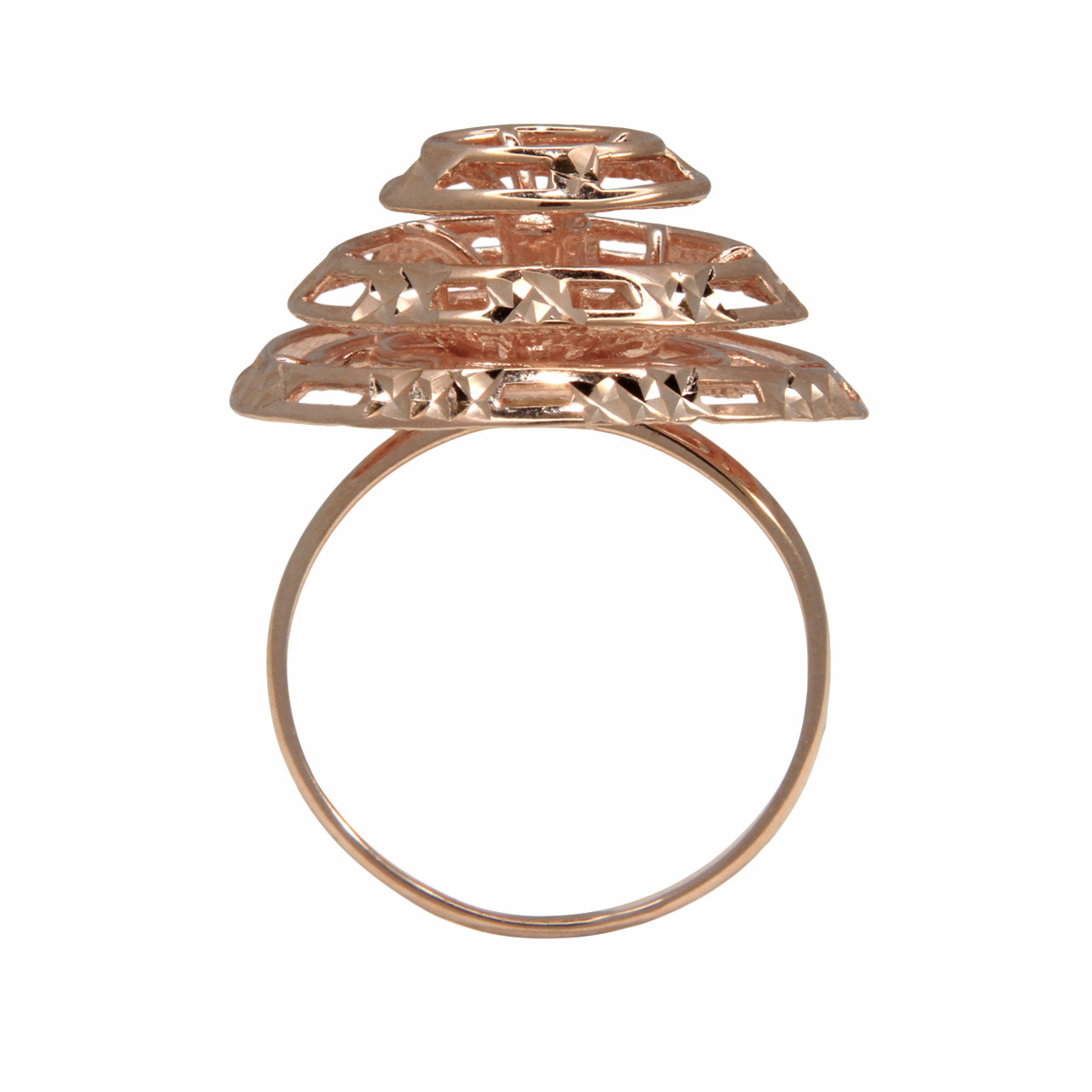 Designer rose gold ring 3