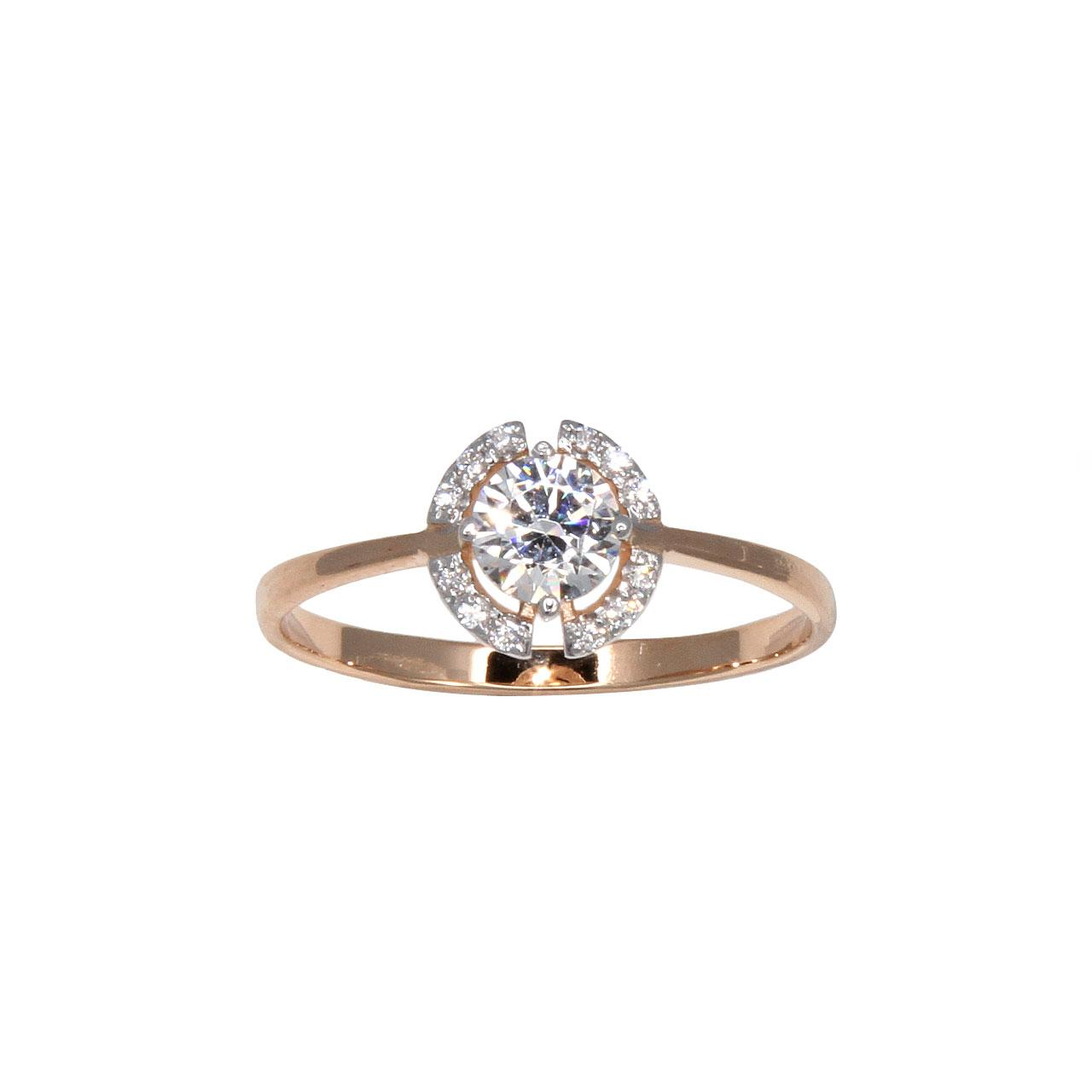 Rose gold Signity CZ ring 2
