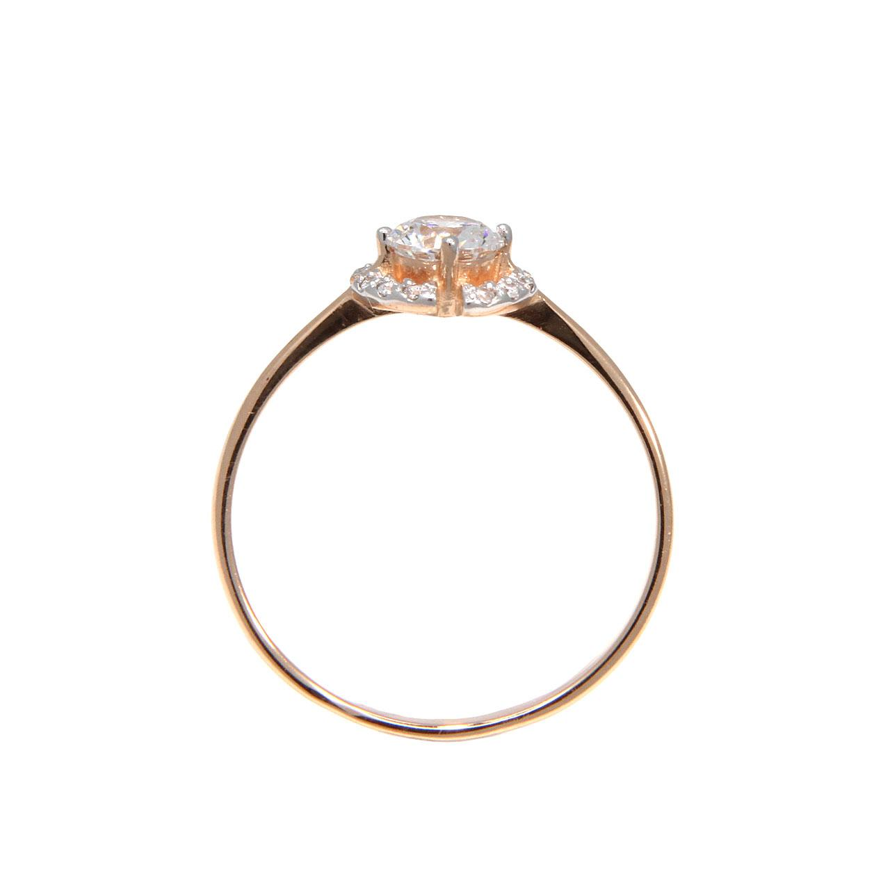 Rose gold Signity CZ ring 3
