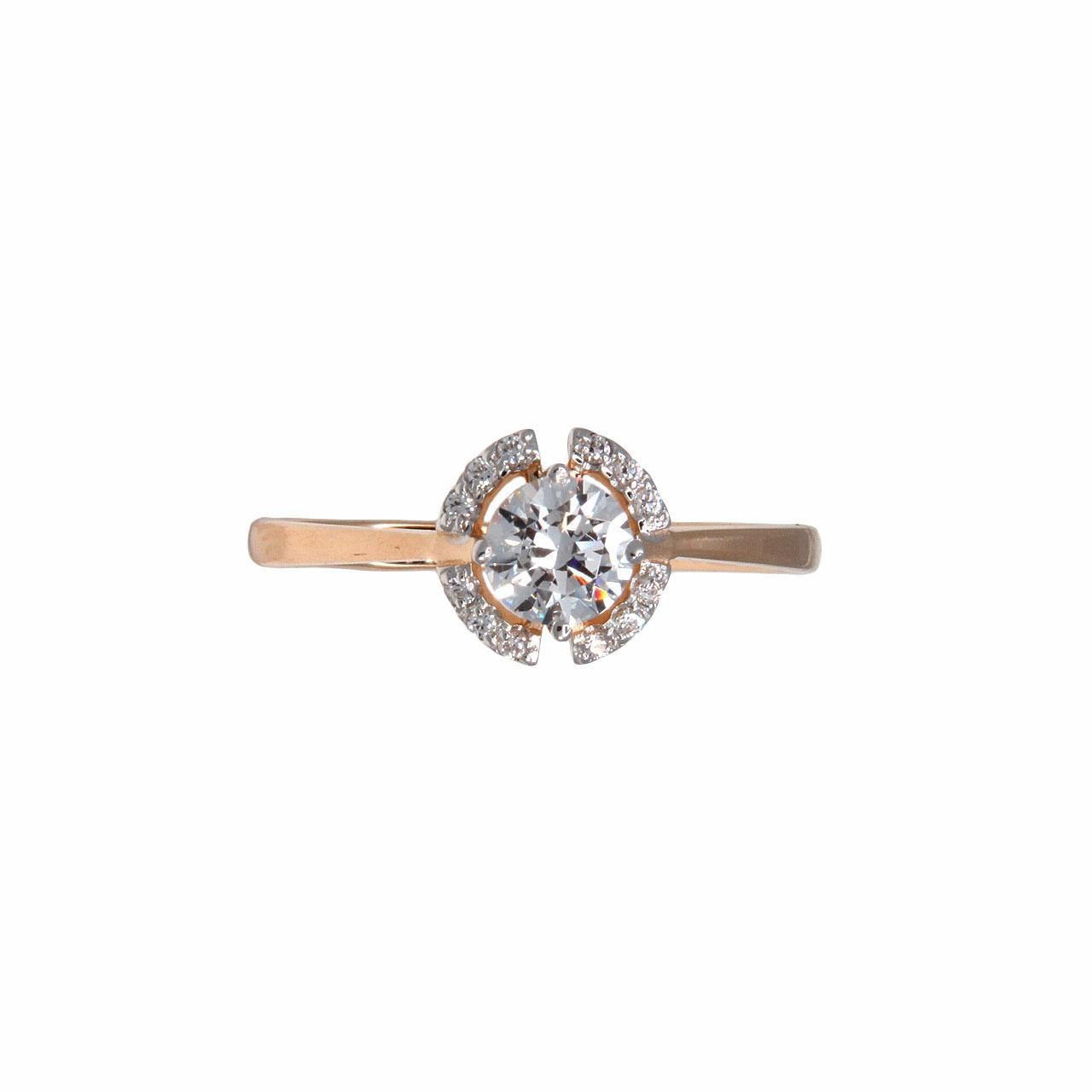 Rose gold Signity CZ ring 4