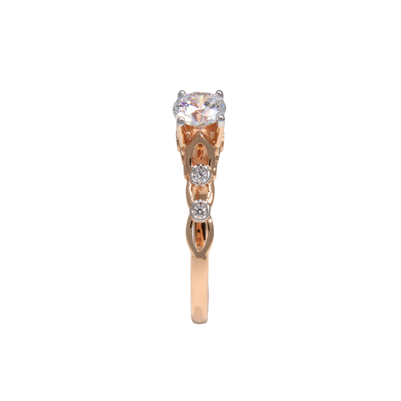 Futuristic rose gold ring 2