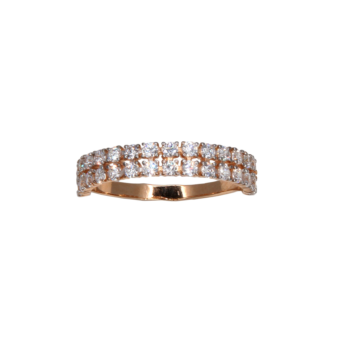 Half eternity rose gold band 2