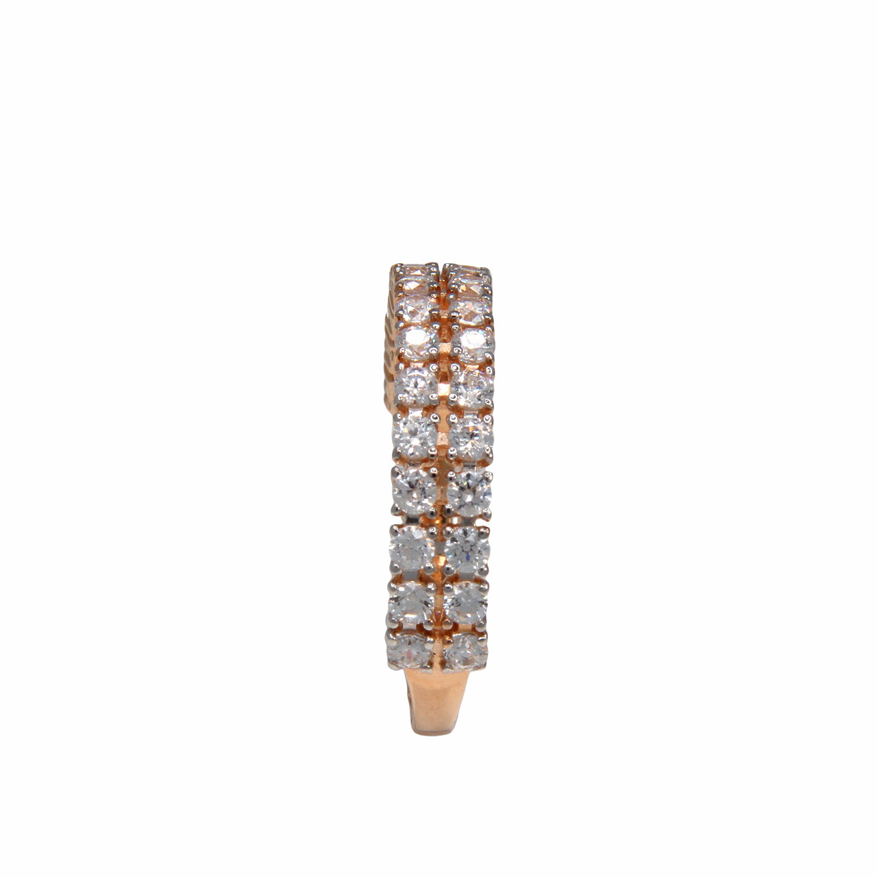 Half eternity rose gold band 3