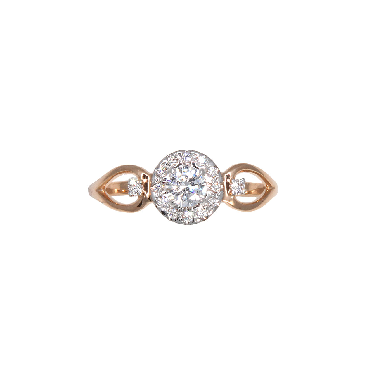 CZ rose gold ring 2