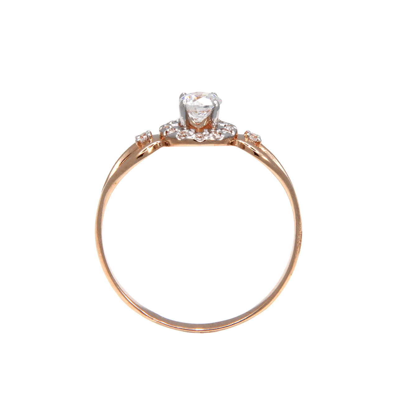 CZ rose gold ring 3