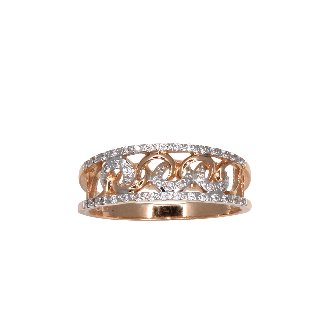 Curb-link rose gold ring 2