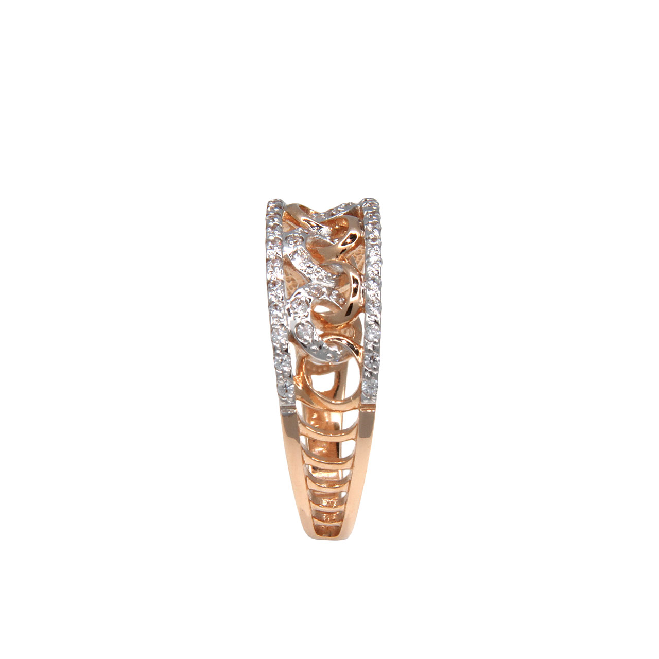 Curb-link rose gold ring 3