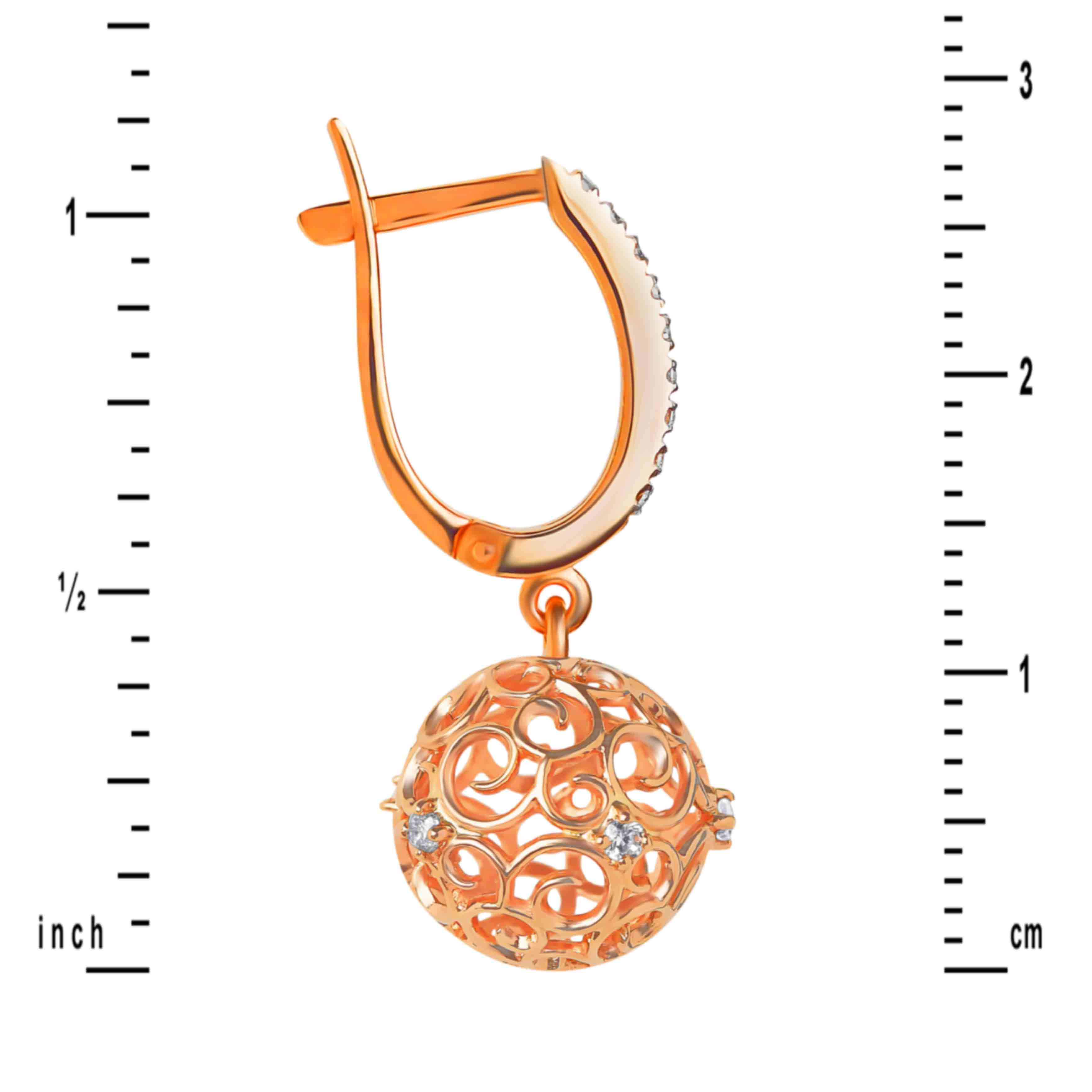 Sphere-shaped Openwork Earring - Scale