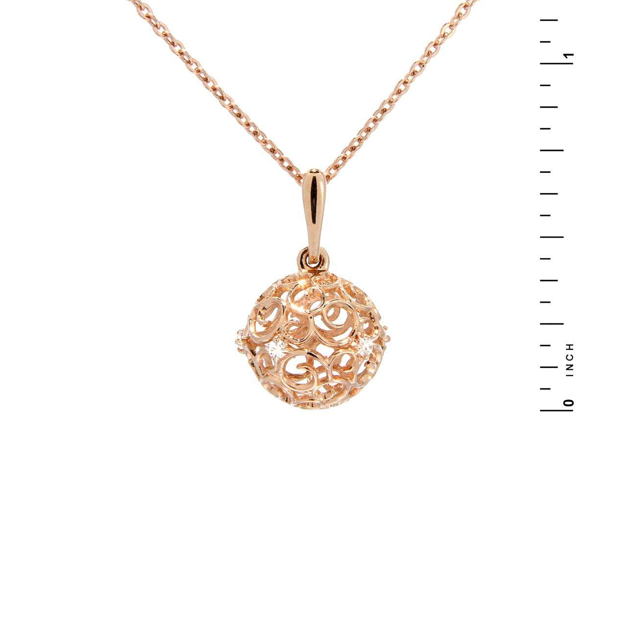 Rose gold sphere pendant 1