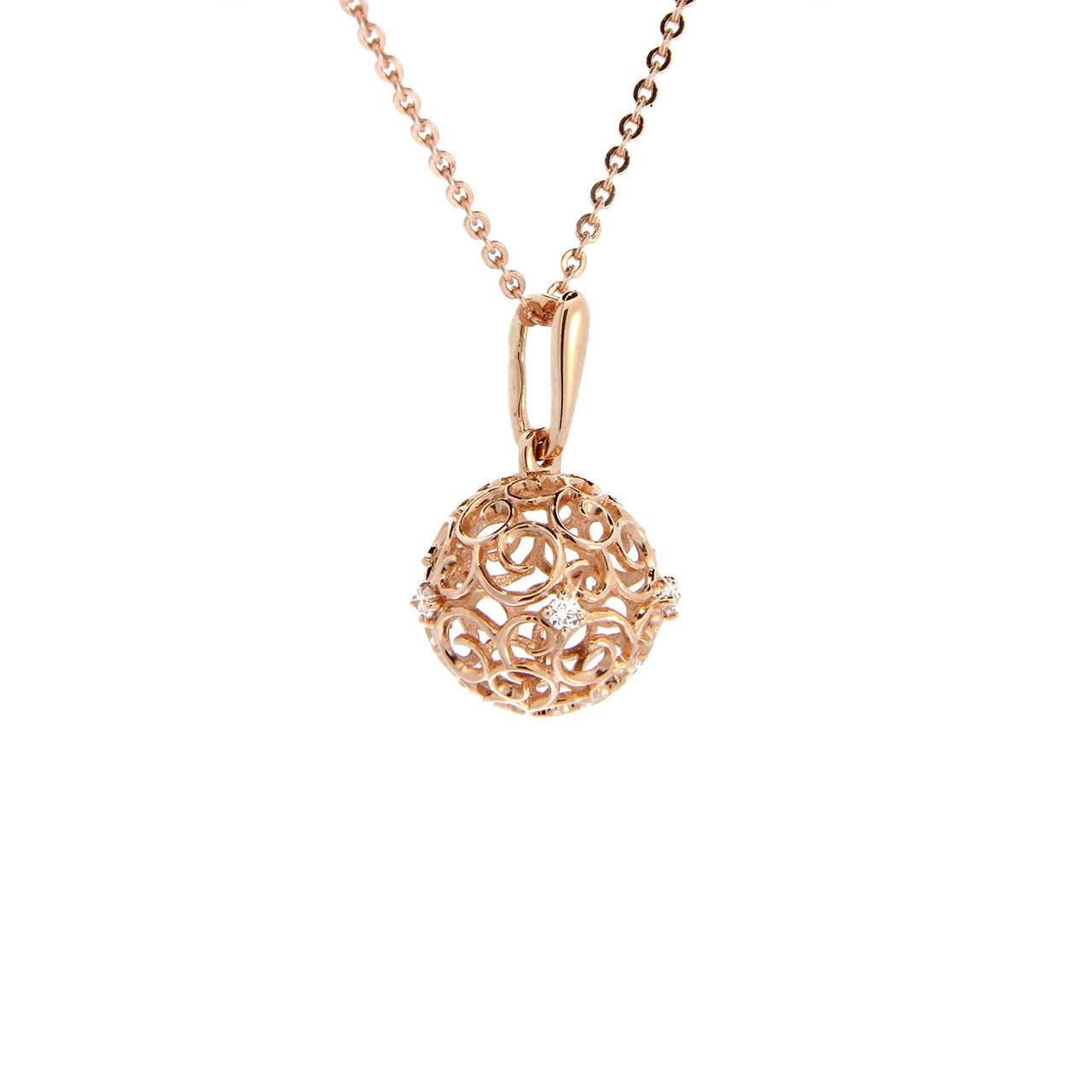 Rose gold sphere pendant 2