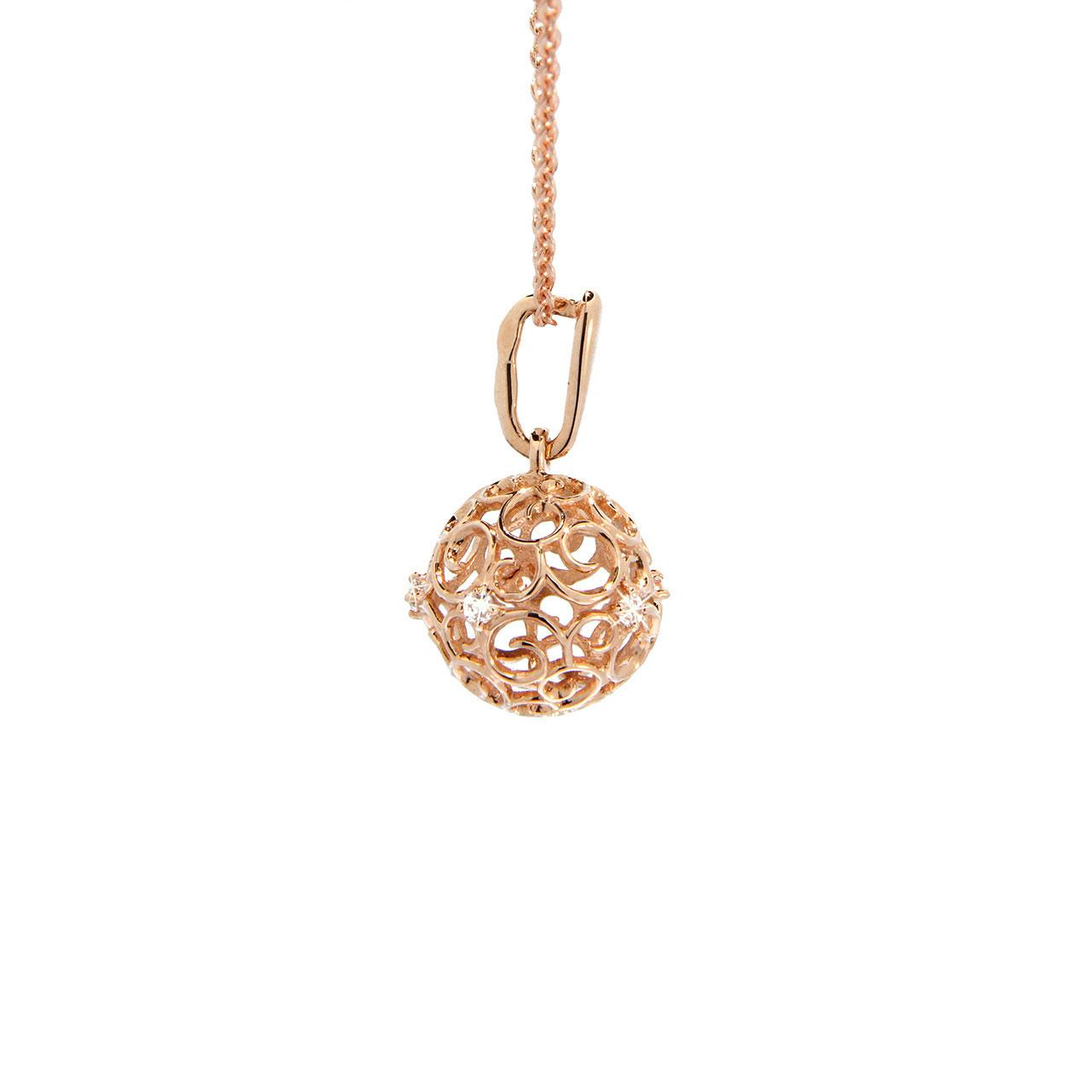 Rose gold sphere pendant 3