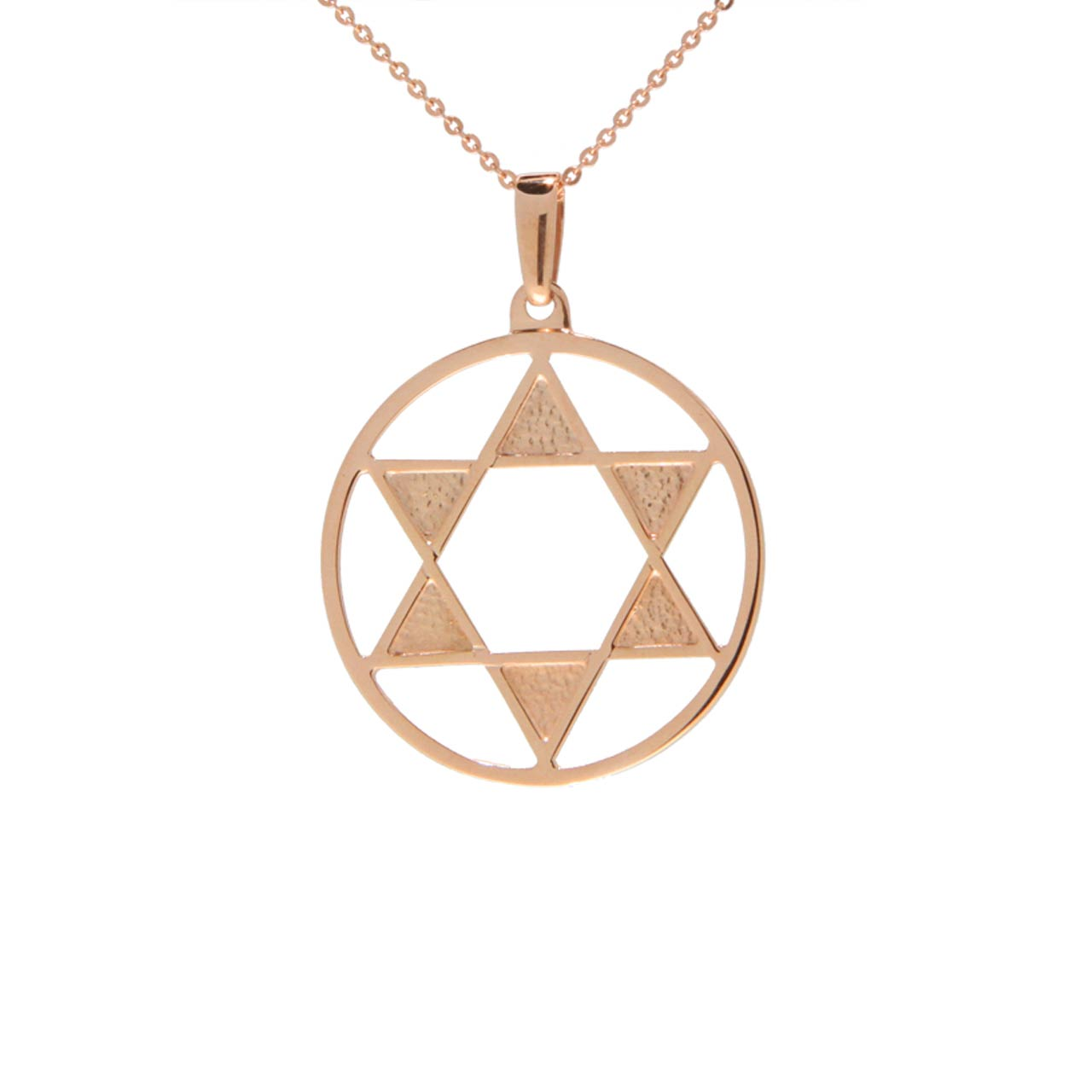 The Star of David Rose Gold Pendant