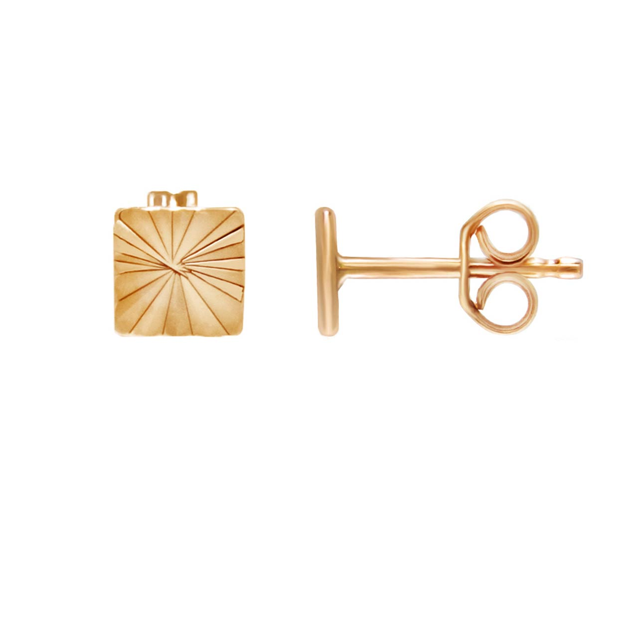 Square stud earrings 1