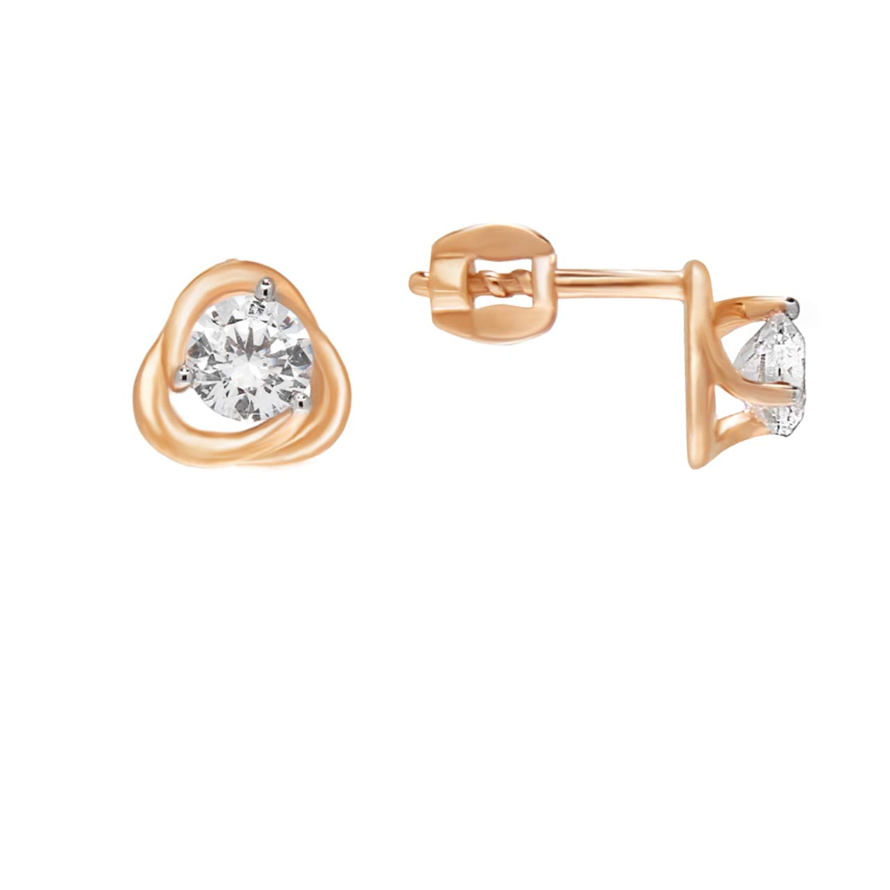 CZ Martini-style Stud Earrings