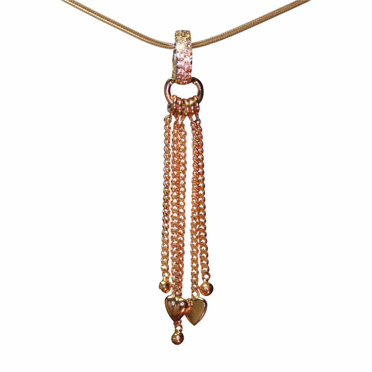 Gold Chains For Sale >> Cz Rose Gold Chain Pendant Bargain Sale