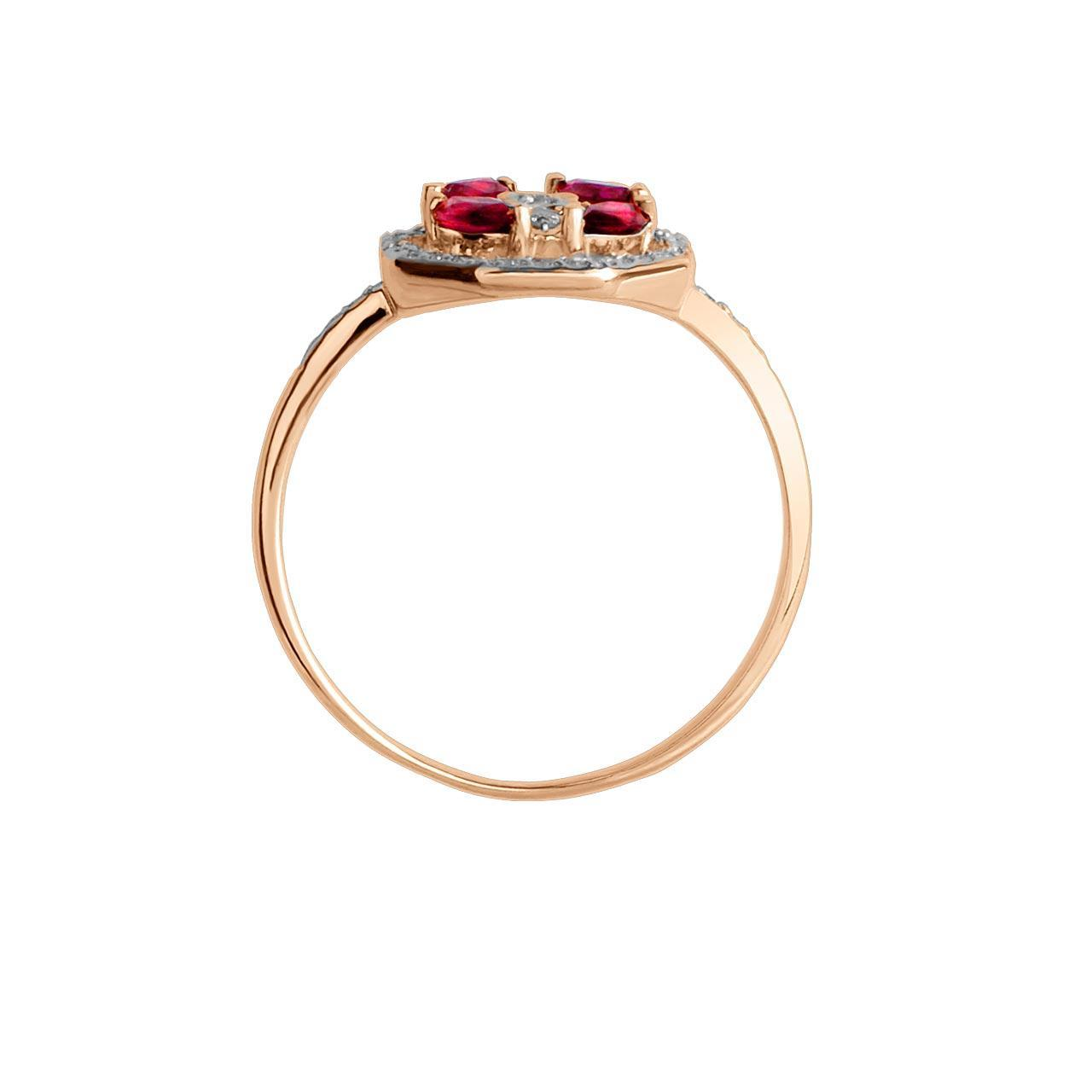 Ruby and Diamond Octagonal Ring. View 2