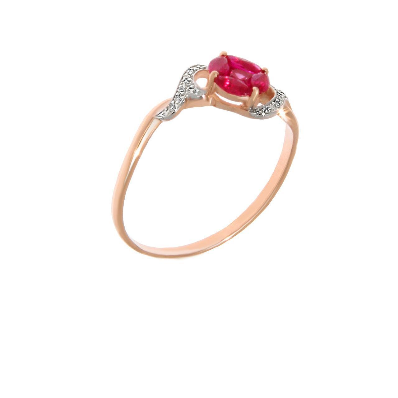 "Ruby ""Flower of Life"" and Diamond Ring"