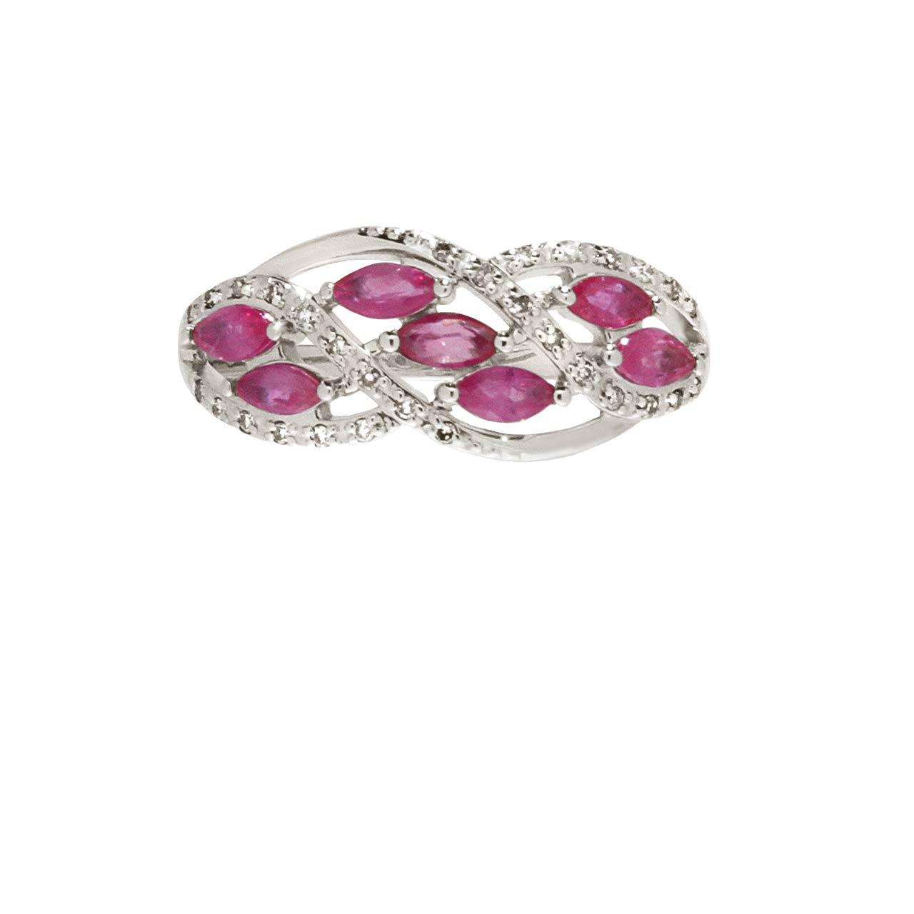 7 Marquise rubies  Russian ring. View 2.
