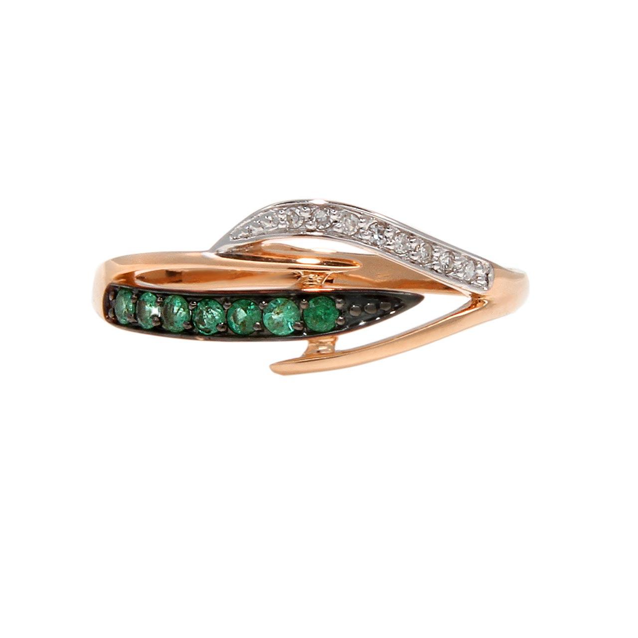 Emerald eclectic ring 2