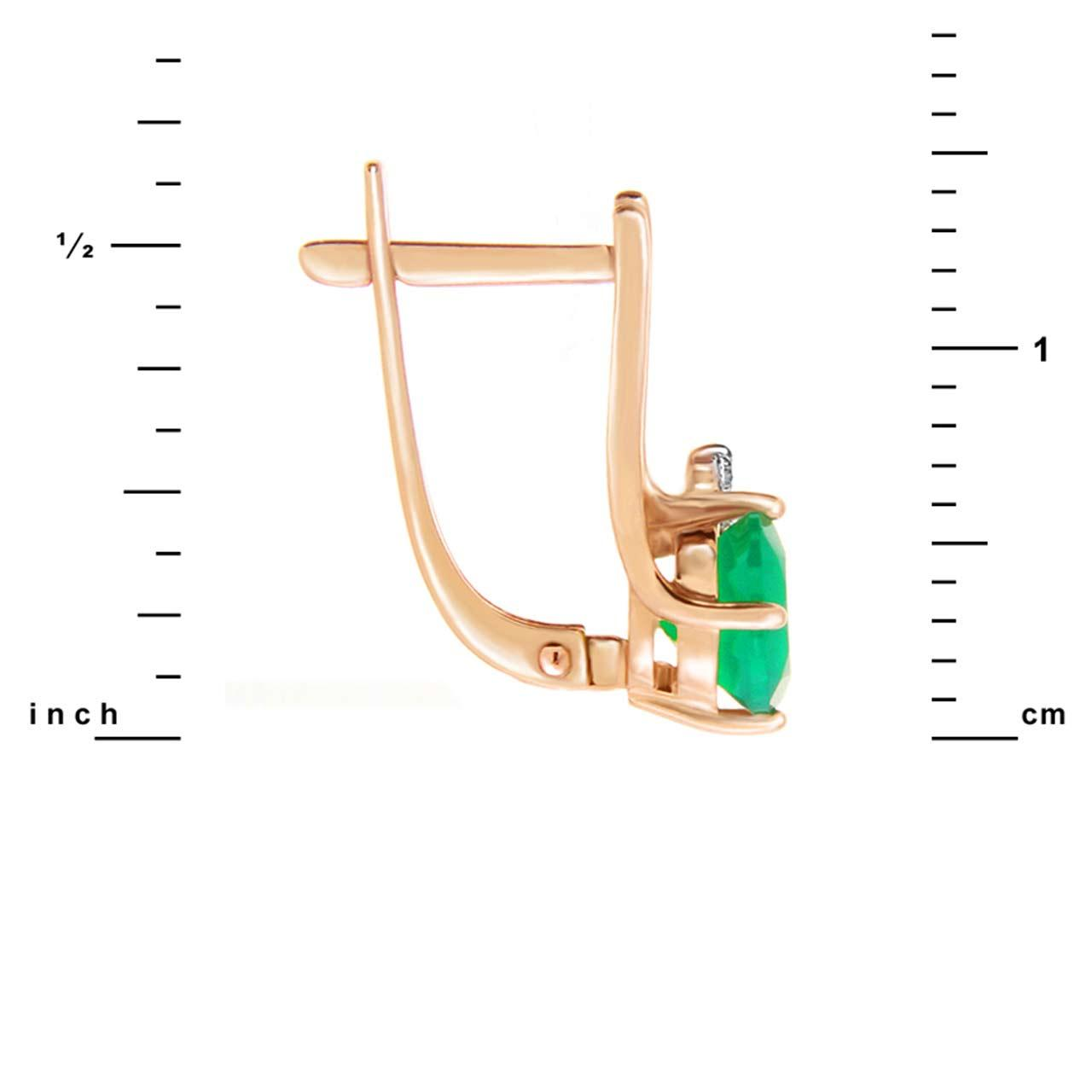 Green onyx earrings 2