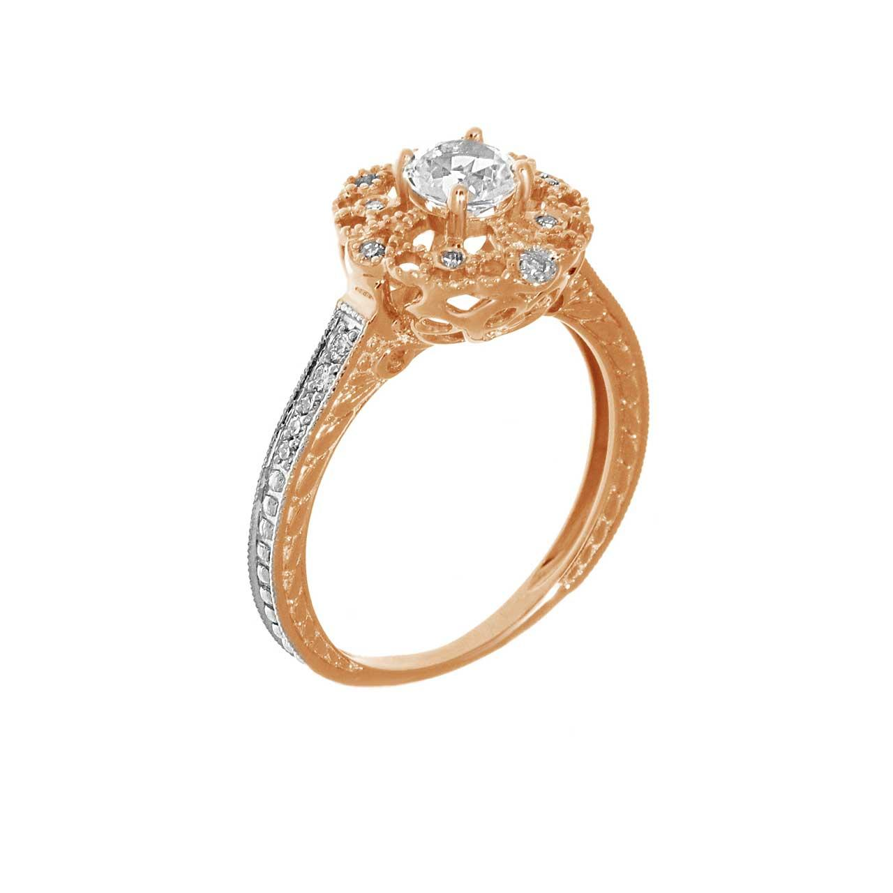 Diamond and topaz ring 1