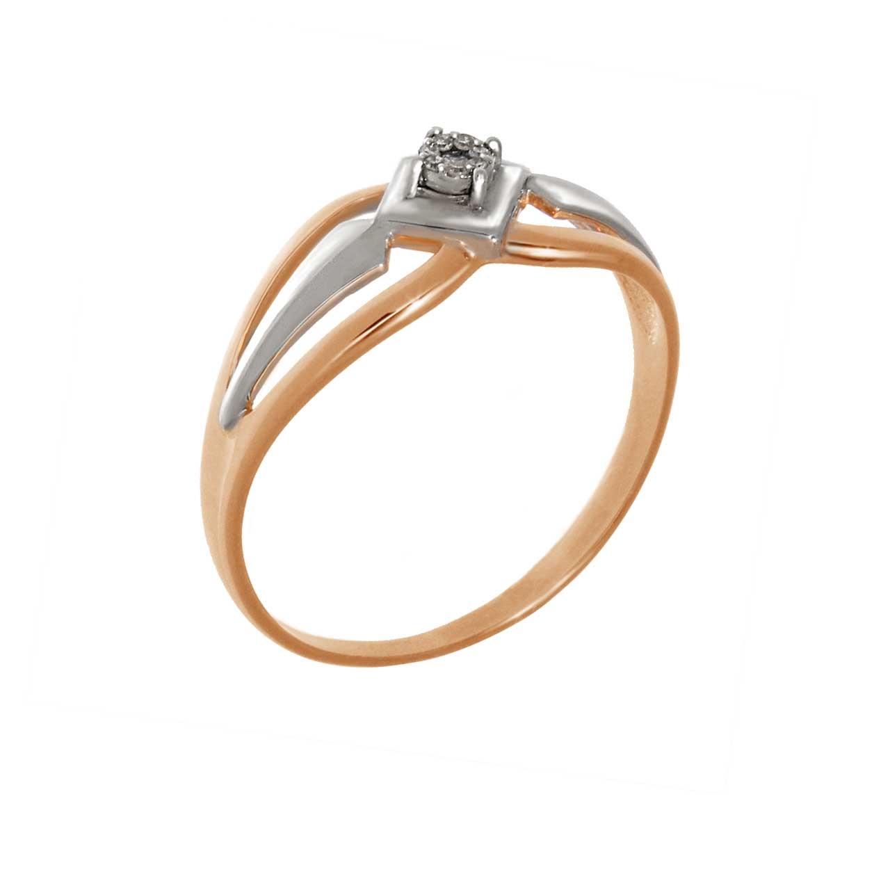Diamond rose gold ring 1