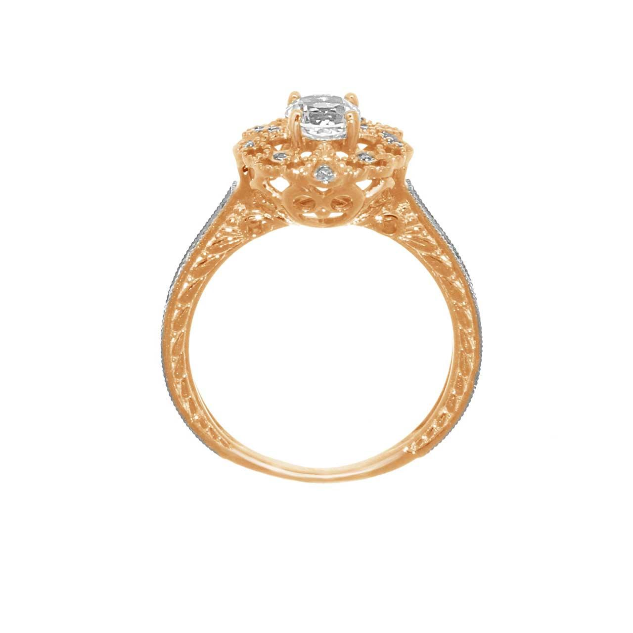 Diamond and topaz ring 2