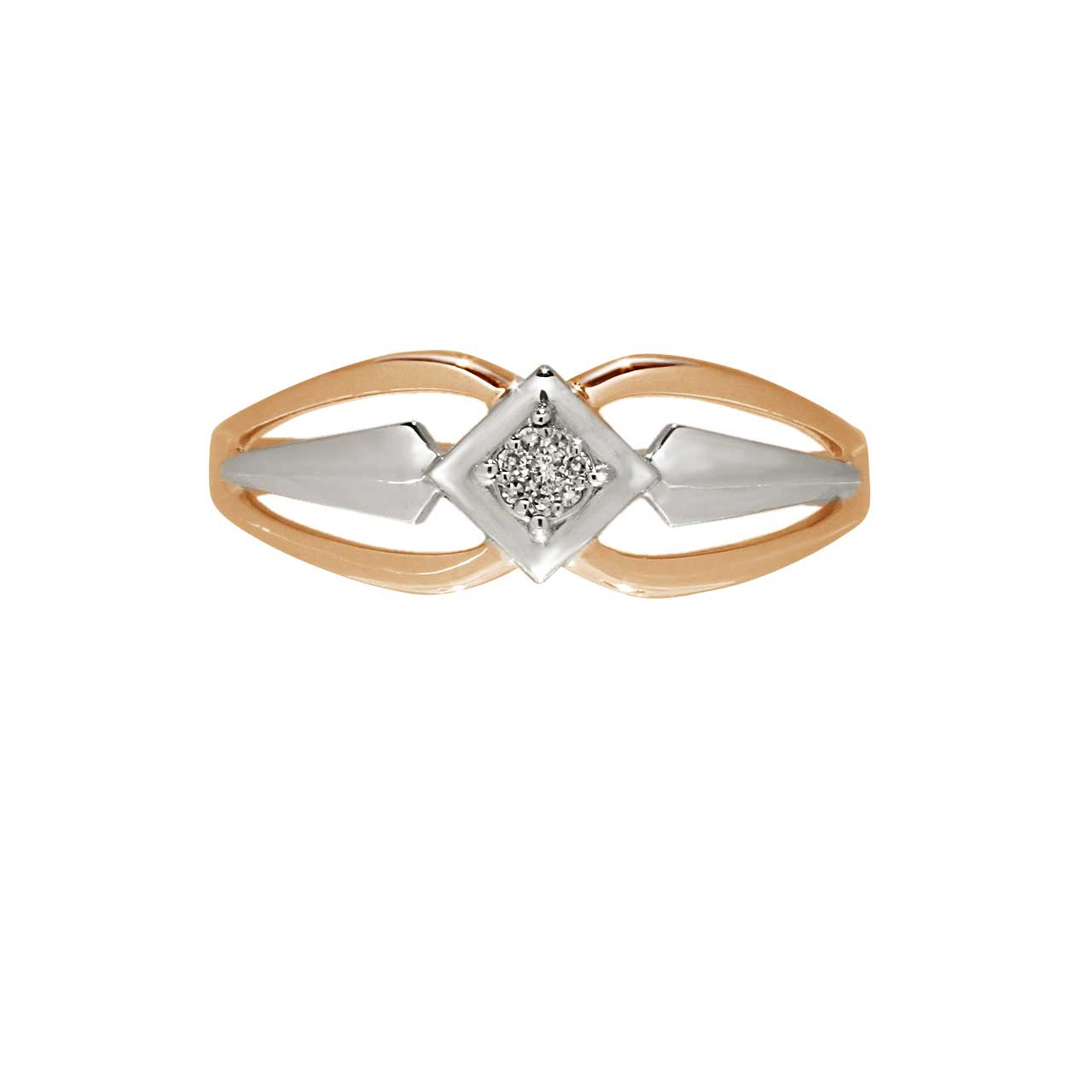 Diamond rose gold ring 2