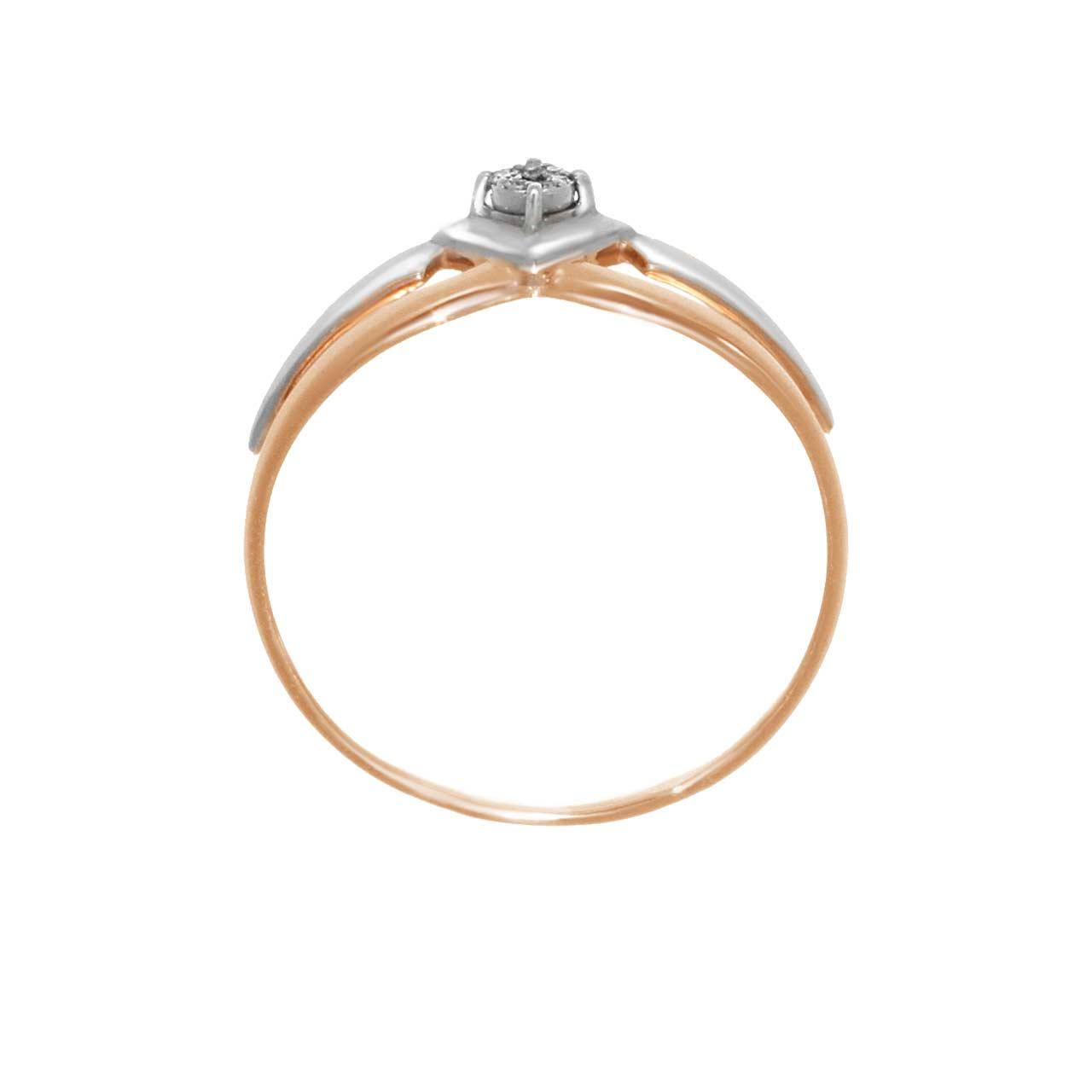 Diamond rose gold ring 3
