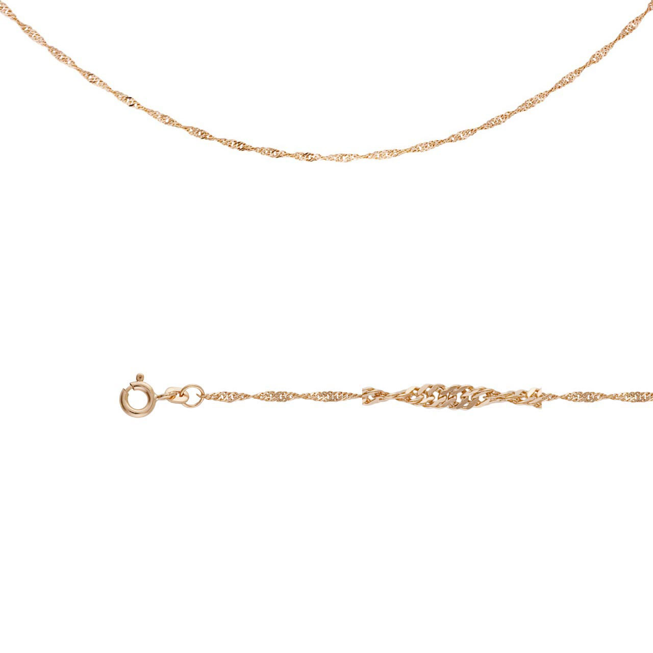Singapore-link Chain (0.35mm Gold Wire)