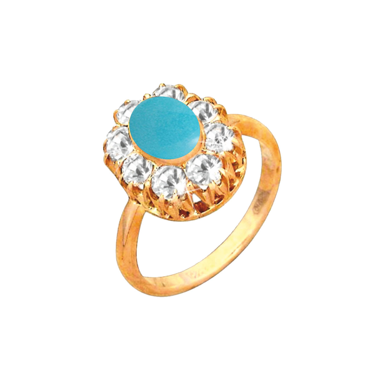 Russian gold halo ring 1