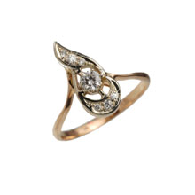 Vintage-look Diamond Ring
