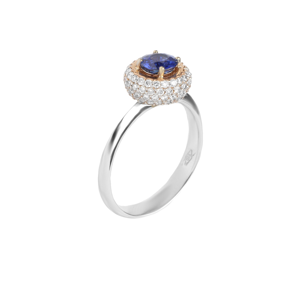 'Kashmir' Blue Sapphire and Diamond Ring