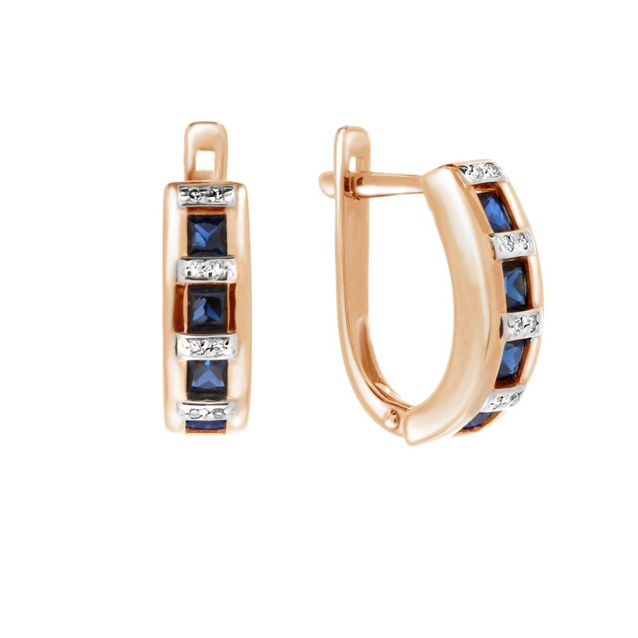Sapphire channel earrings 1