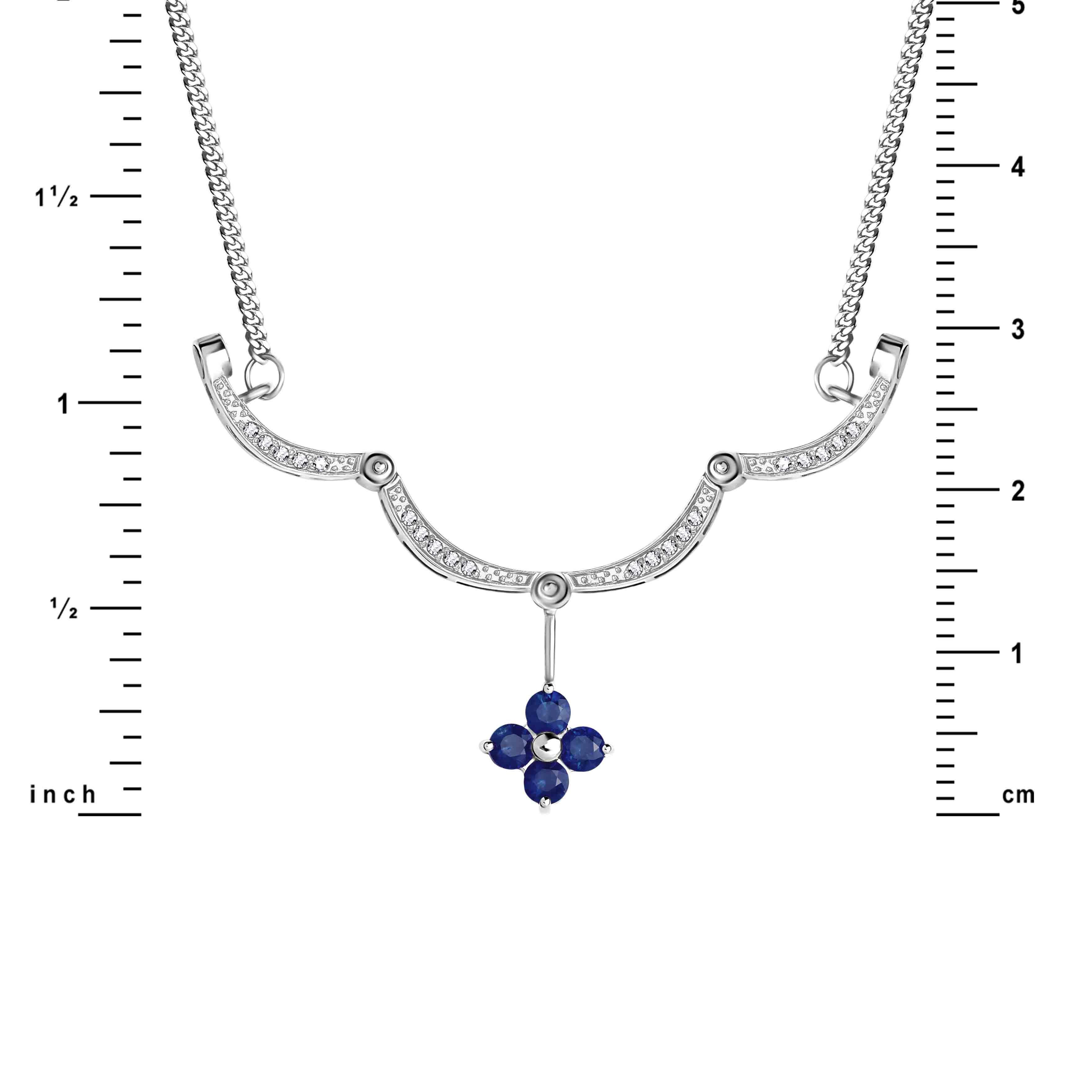 Diamond White Gold Necklace view 3