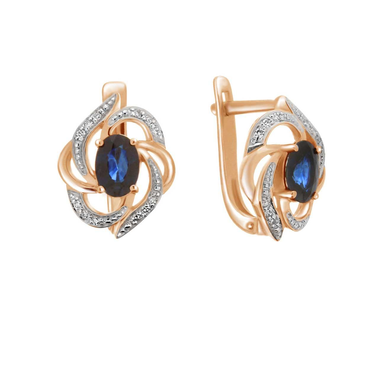 Sapphire diamond leverback earrings 1