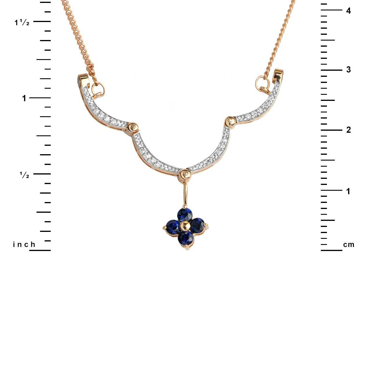 Sapphire convertible necklace 1