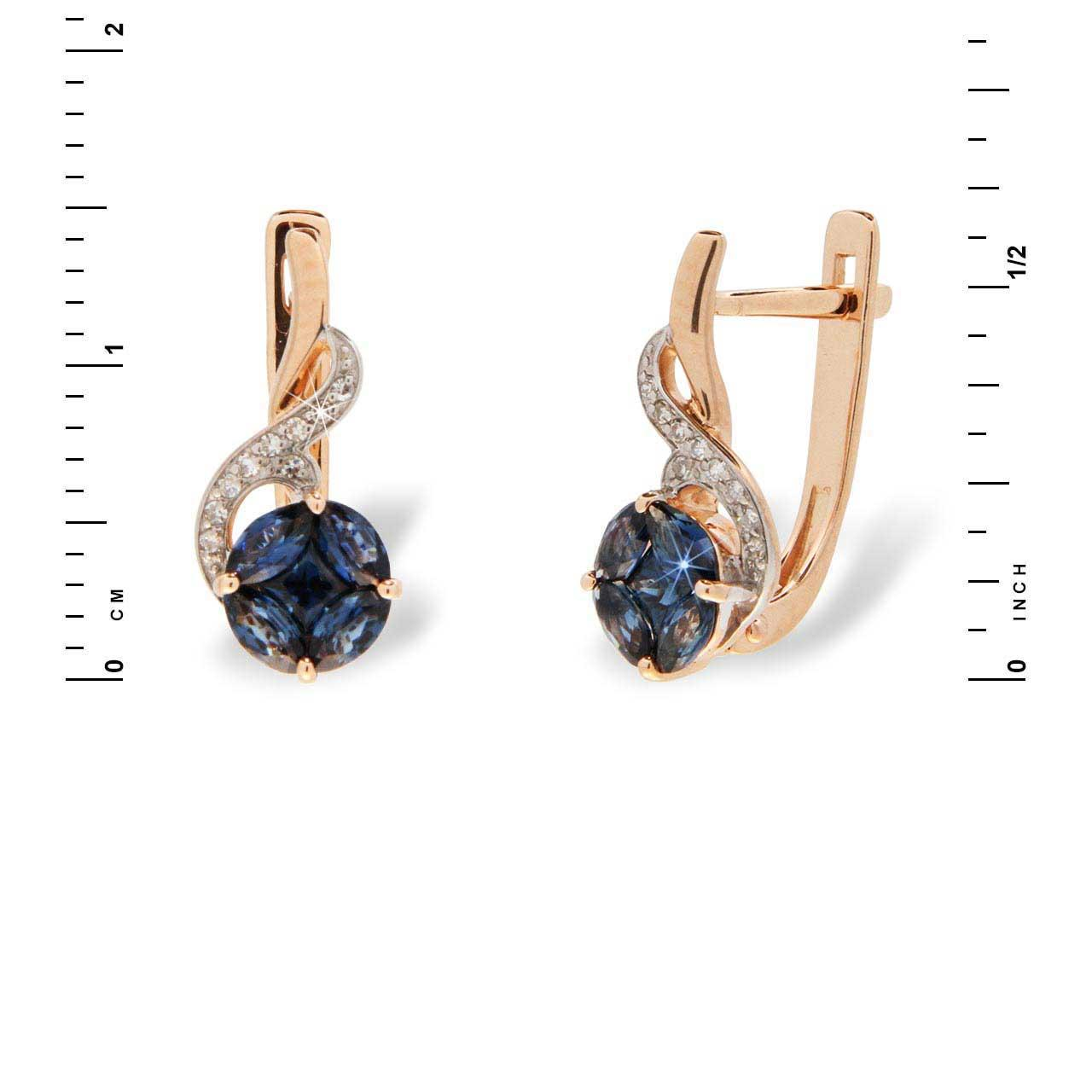Sapphire flower of life earrings 3