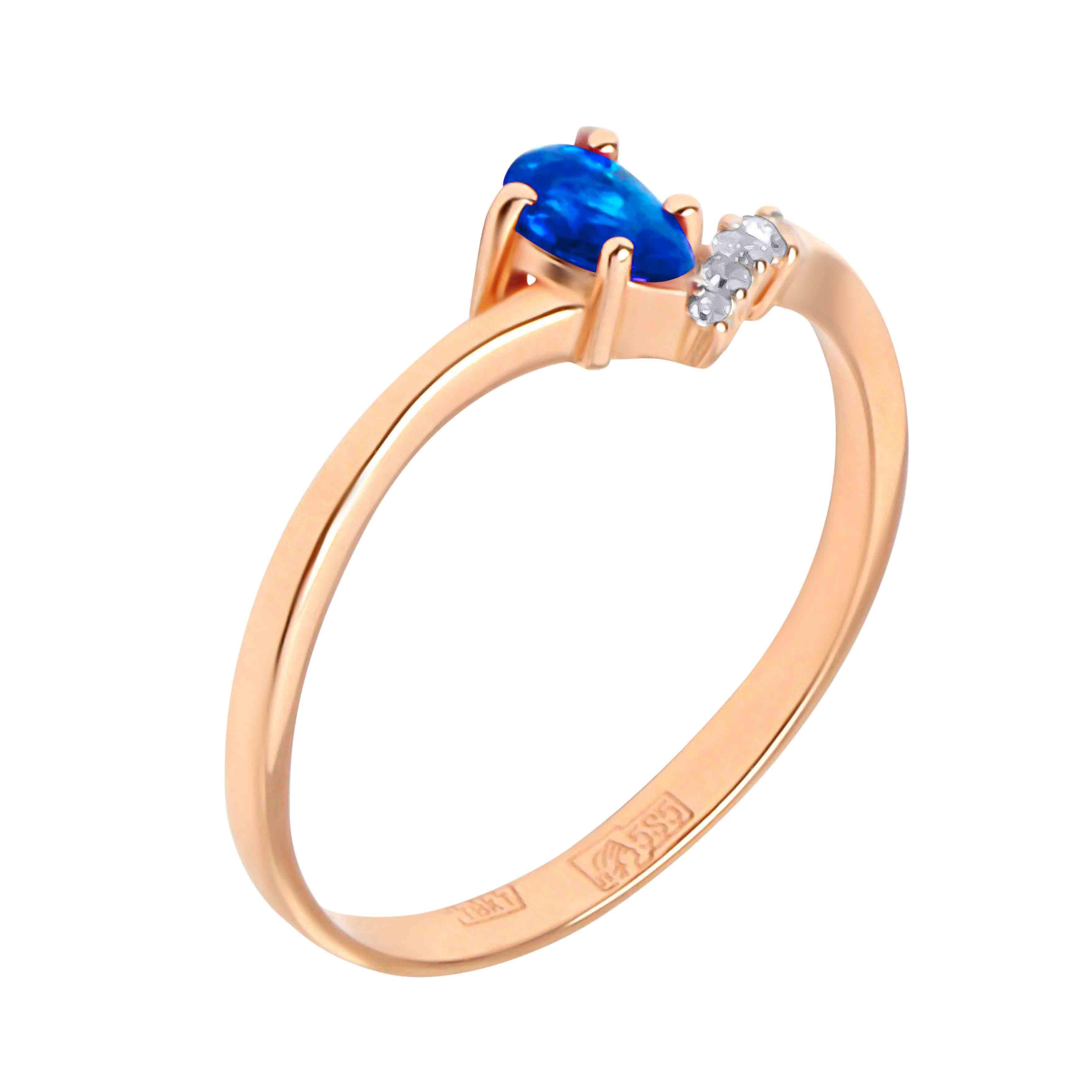 Pear-shape Sapphire and Diamond Ring