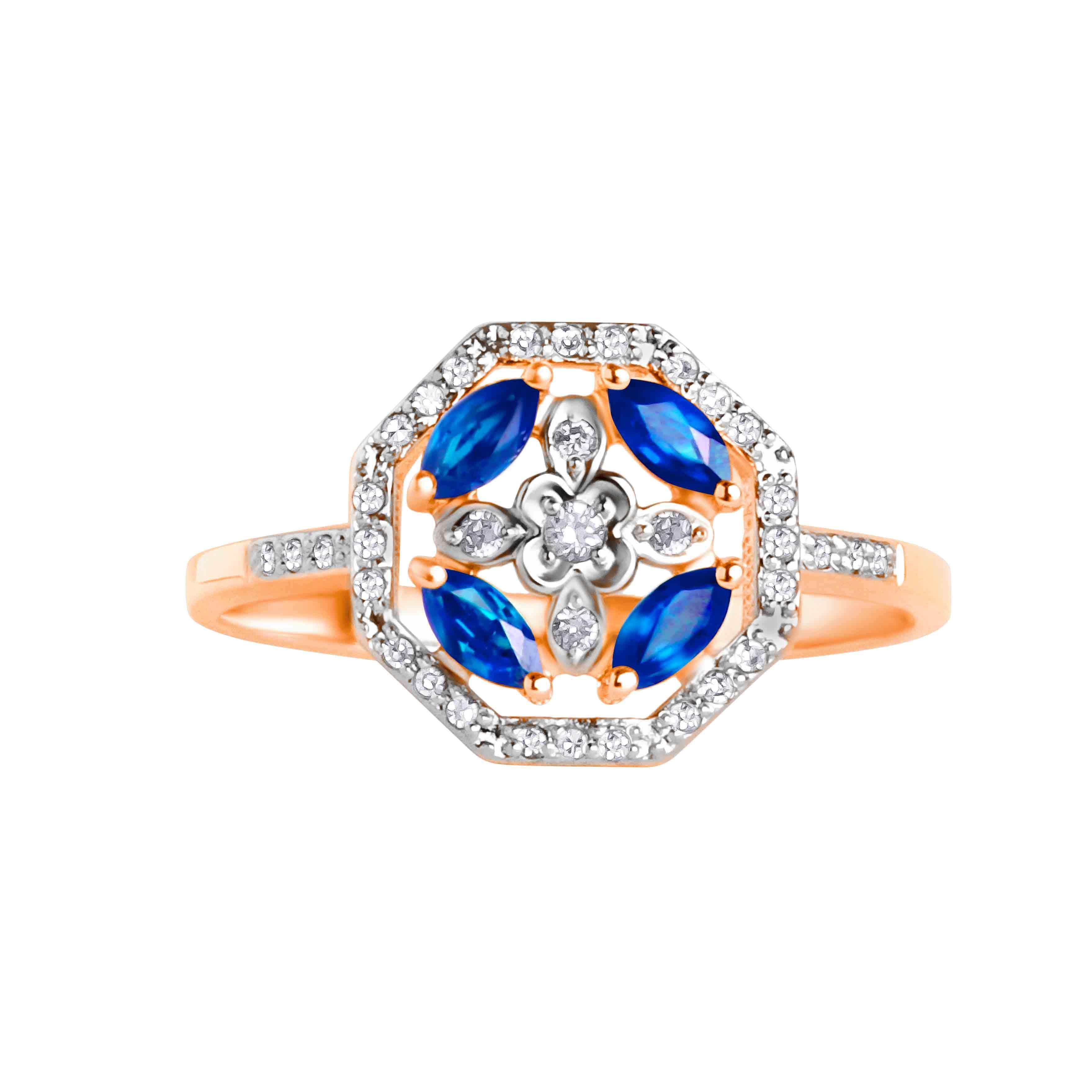 Sapphire ring view 2