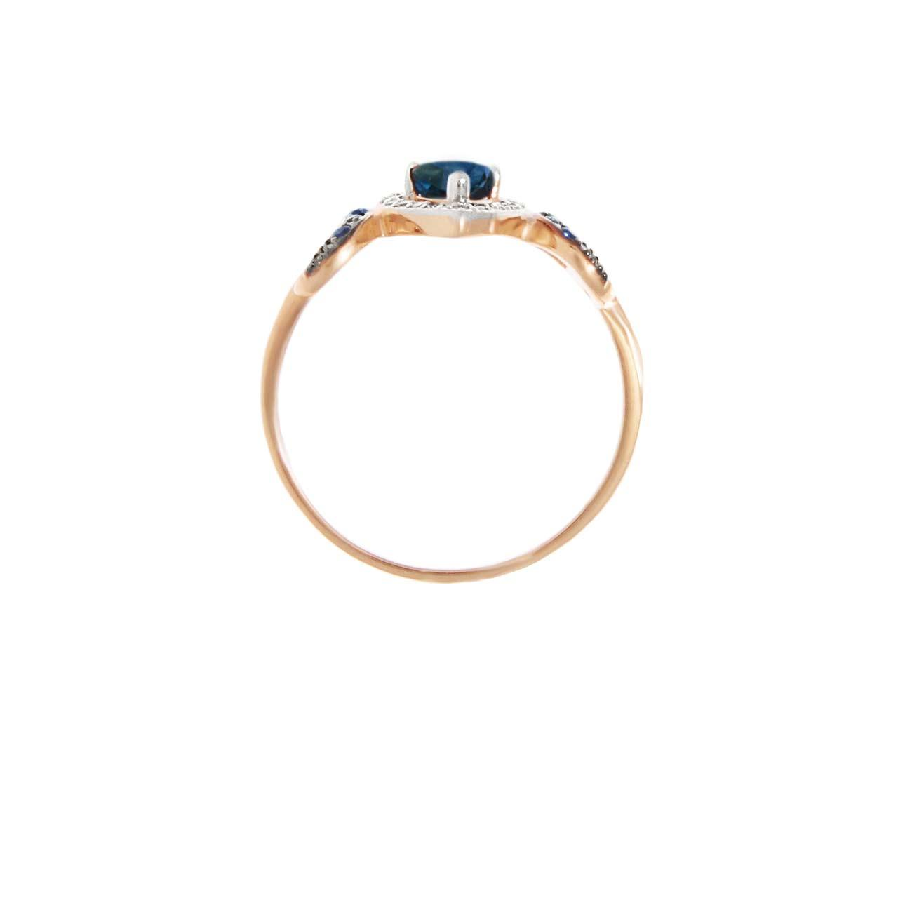 Sapphire rose gold ring 3