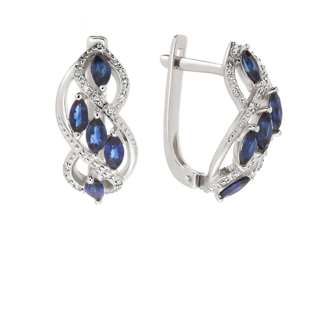 Sapphire white gold earrings 1