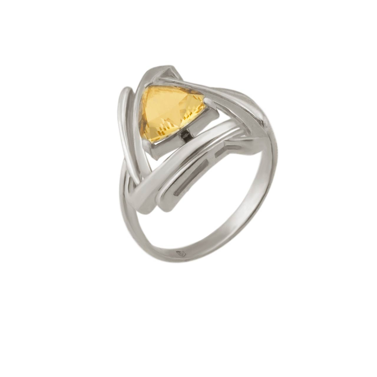 Russian silver citrine ring 1