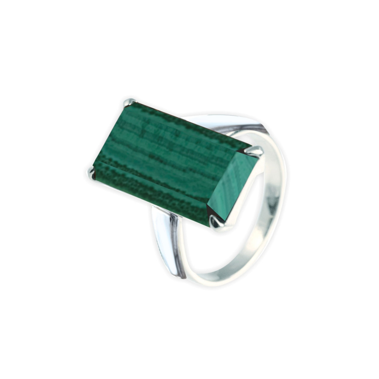 Malachite silver ring 1